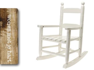 Jip hippe witte schommelstoel vanleyenhout webshop - Sterke witte werpen en de bal ...