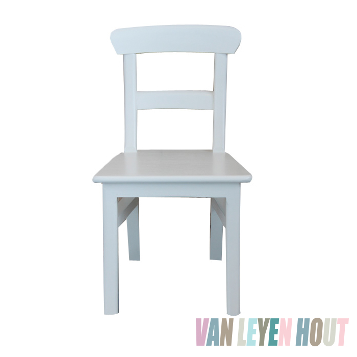 Kinderstoel Wit Hout.Houten Kinderstoel Gebroken Wit Vanleyenhout Nl