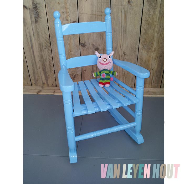 schommelstoel blauw