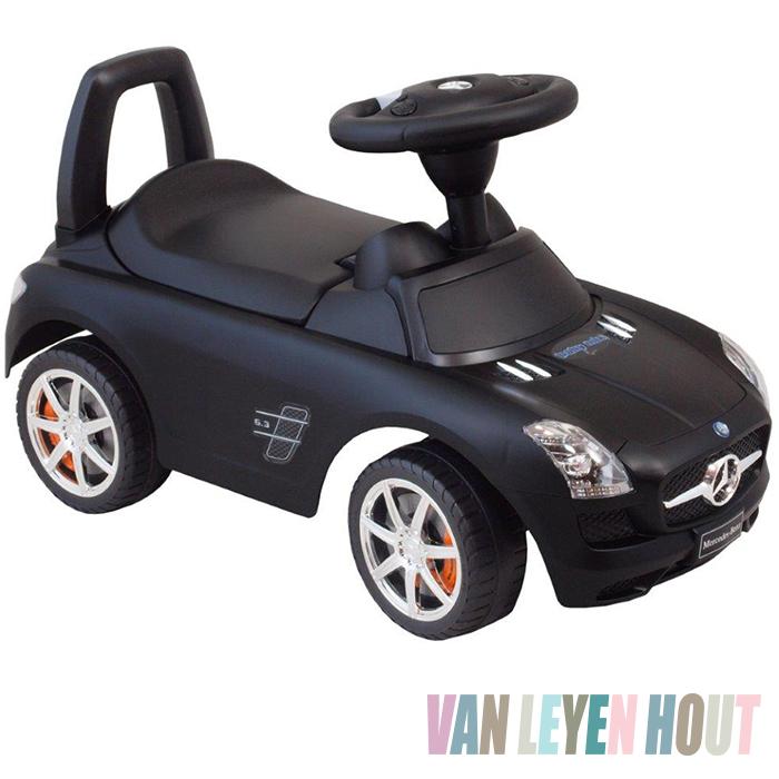 loopfietsje zwart Mercedes voor stoere jongens en meiden
